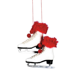 Faux Fur Trimmed Figure Skates Ornament