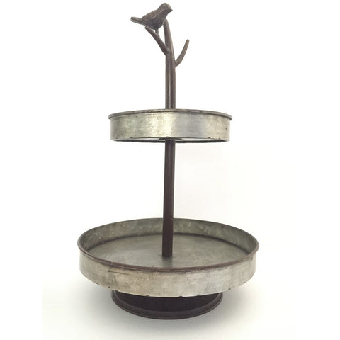 Metal Two-Tier Bird Tray