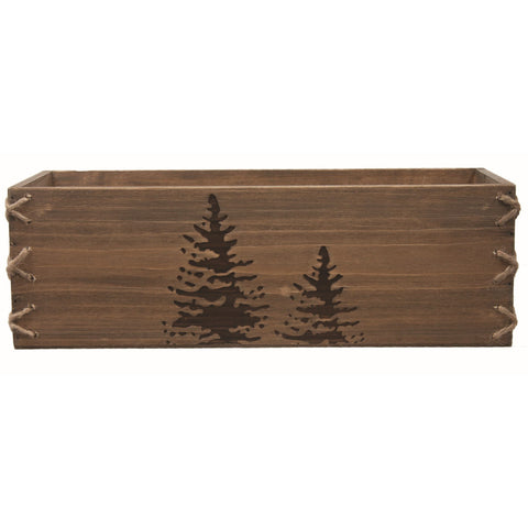 Fired Tree Wooden Box large