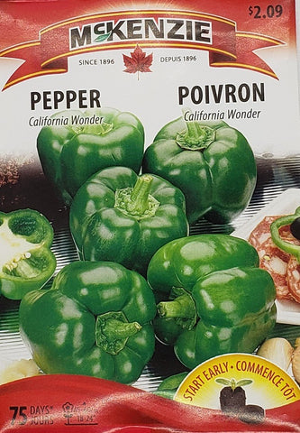 Pepper Early California Wonder