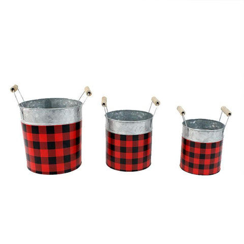 Buffalo Plaid Planter sm
