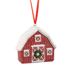 Snowy Barn Ornament