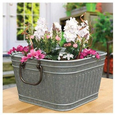 Washtub Galvanized Planter