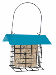 Suet Cake Feeder with Blue Roof