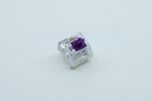Load image into Gallery viewer, An angled view of the Kailh Pro Purple switch.