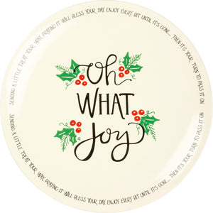 Blessing Plate - Oh What Joy