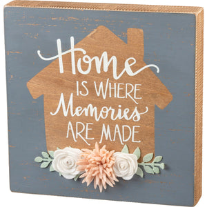 Box Sign - Home Is Where Memories Are Made