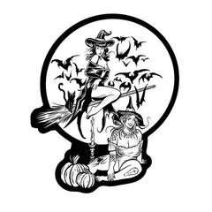 Witchy Babes Die Cut Sticker