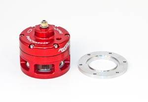 ATI Red Race Valve With Mounting Hardware - Open (Aluminum Flange)