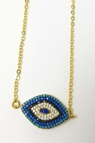 Azra Ombre Evil Eye Pendant Necklace - Gold
