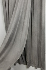 Crossover Front Jersey Maxi Skirt - Heather Gray