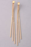 Triple Strand Linked Dangle Earrings - Gold or Silver
