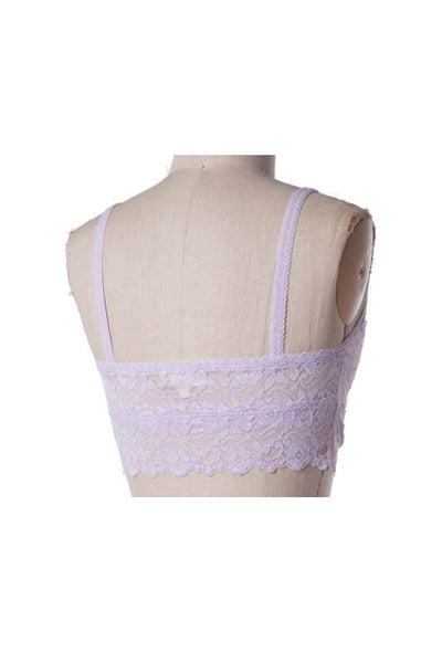 Simple Lace Bralette - Ivory, Champagne, Nude, Mint or Lavender