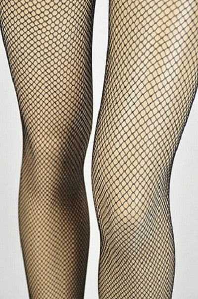 Classic Fishnet Tights - Black