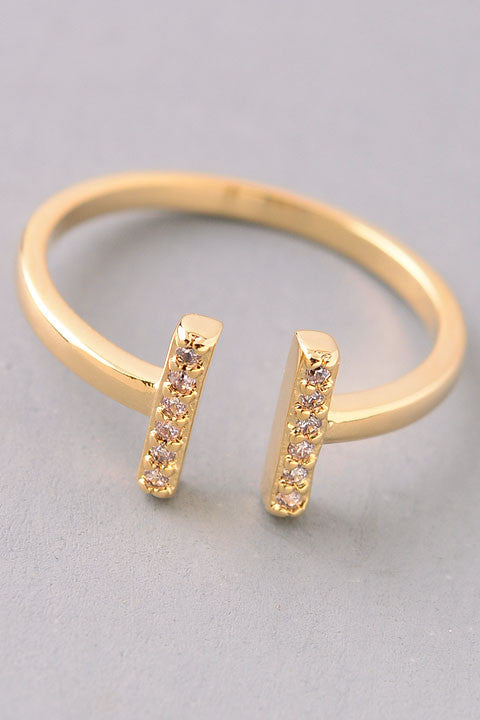Jewel Bar End Ring - Gold