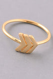 Simple Chevron Ring - Gold