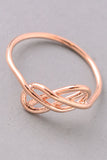 Glam Criss-Crossed Ring - Silver or Rose Gold