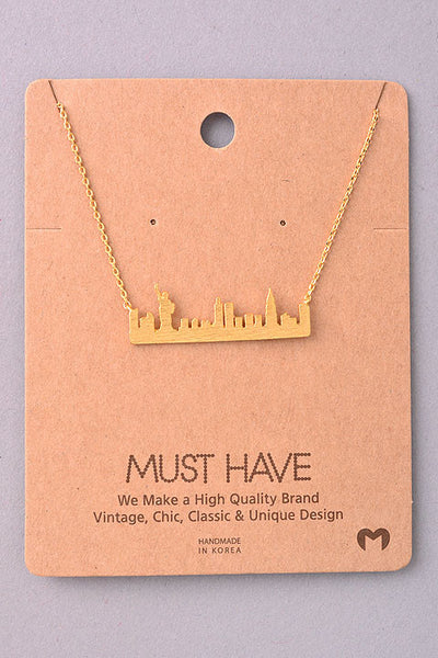 Dainty New York City Skyline Necklace - Gold or Silver