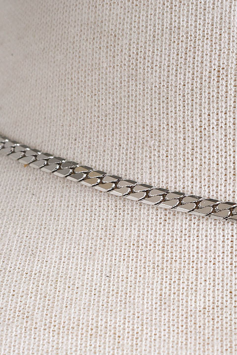 Lustrous Rope Metal Skinny Choker Necklace - Gold or Silver