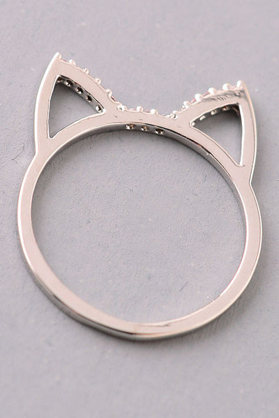 Cat Ears Cut-Out Ring - Gold or Silver