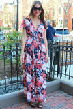 Serena Floral Wrap Maxi Dress - Pink