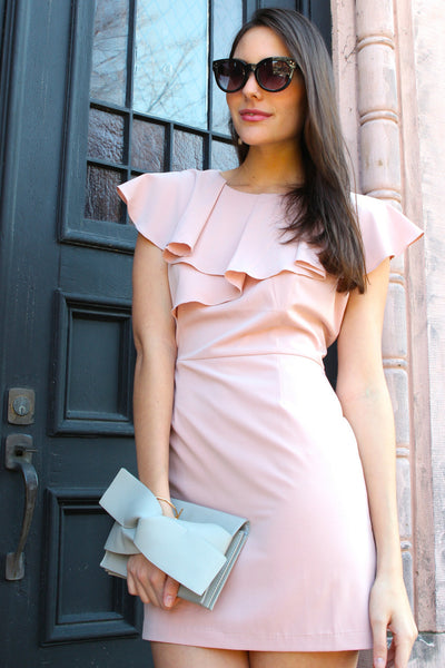 Love Letter Ruffle Layer Dress - Blush
