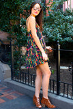 Lolita Floral Sundress - Black/Multi