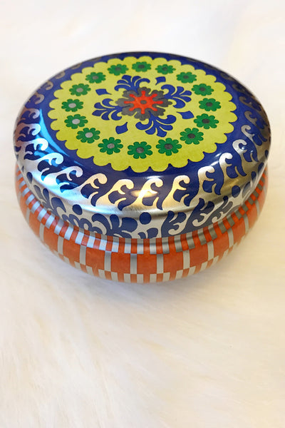 Decorative Tin Candle - Ankara or Ziggy