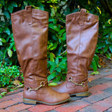 """Parksville"" Knee High Riding Boots - Chestnut"