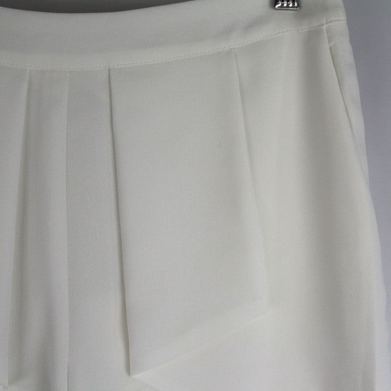 Pleated Front Shorts - White