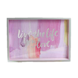 Decorative Quote Lacquered Tray - Live the Life You Love