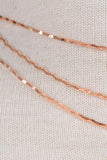 Triple Layer Wavy Chain Choker Necklace - Gold, Rose Gold or Silver