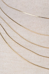 Five Layer Ultra Thin Chain Choker Necklace - Gold, Rose Gold or Silver