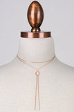 Double Layer Knotted Chain Choker Necklace - Gold, Rose Gold or Silver