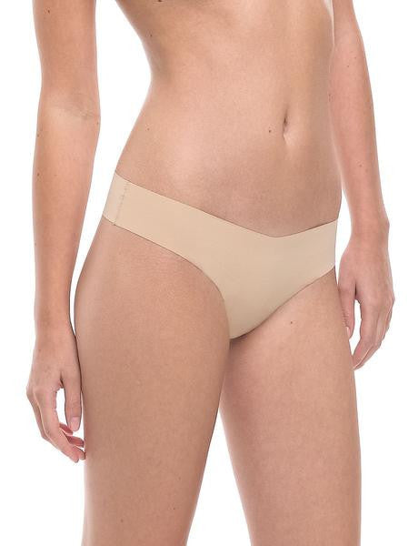 Classic Seamless Thong Underwear - Nude or Black