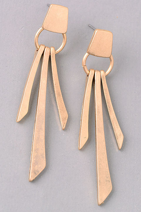 Tier Dangle Earrings - Gold or Silver
