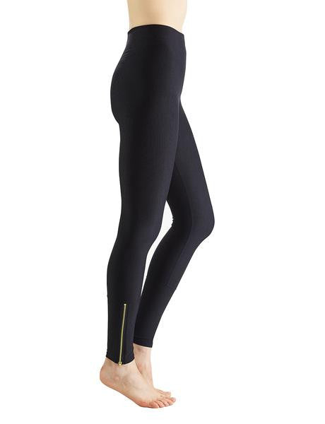 Perfect Control Leggings with Zippers - Black