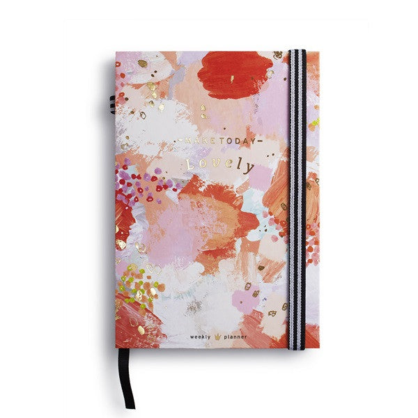 Make Today Lovely Weekly Planner - Pink/Gold