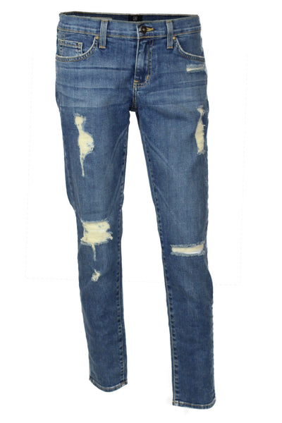 One of the Guys Distressed Slim Fit Boyfriend Jeans - Medium Wash