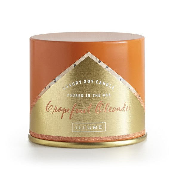 10oz Colored Vanity Tin Candle - Blackberry Absinthe, Gardenia, Grapefruit Oleander or Cactus Verde
