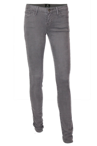 High Rise Stretch Skinny Jeans - Charcoal Gray