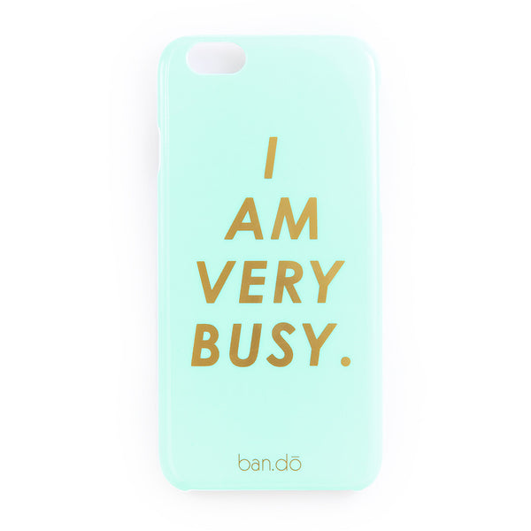 "iPhone 6 Case - ""I Am Very Busy"" or Petite Party Dots"