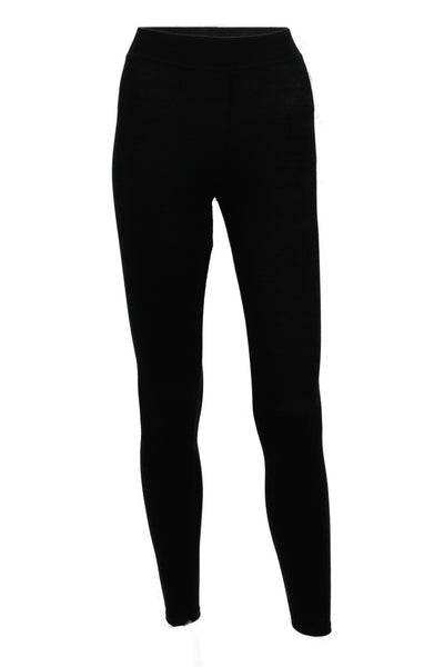 Basic Ribbed Leggings - Black