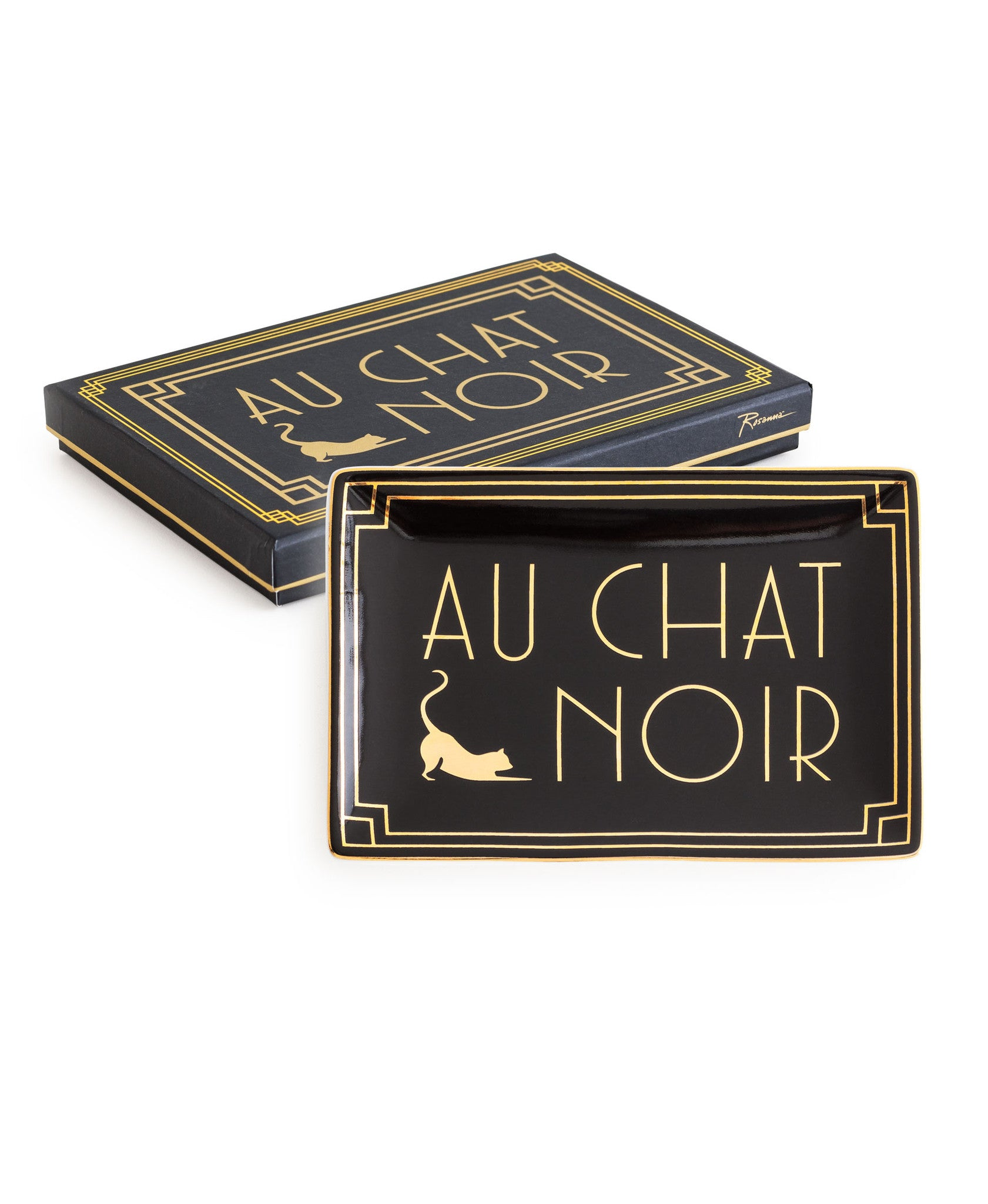 """Jazz Age"" Decorative Tray - ""Au Chat Noir"""