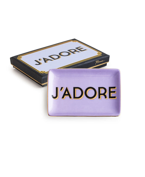"""Jazz Age"" Decorative Tray - ""J'Adore"""