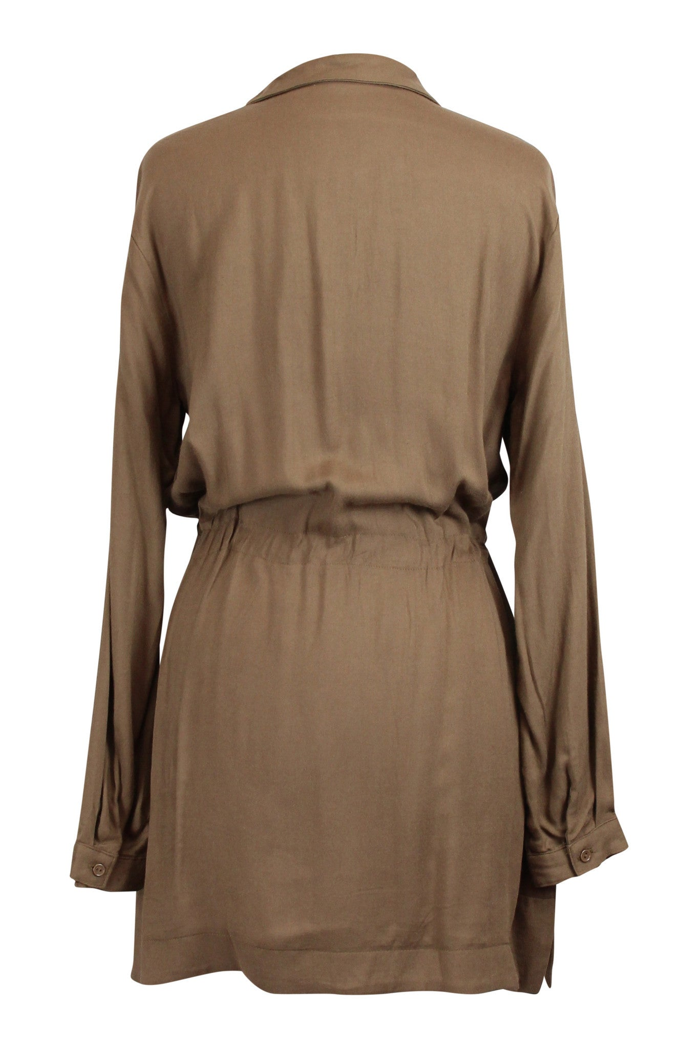 Safari Chic Shirt Dress - Camel