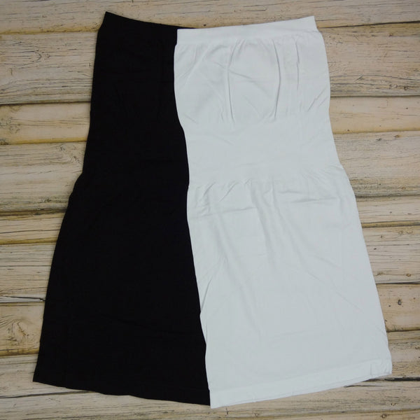 Strapless Seamless Slip - Black or White