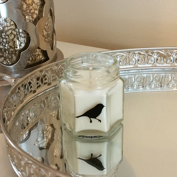 1.5oz Baby Size Hexagonal Glass Jar Birdy Personality Candle - Basic, Boss, Betch, Crunchy, Girly, Luxe, Peppy or Zen