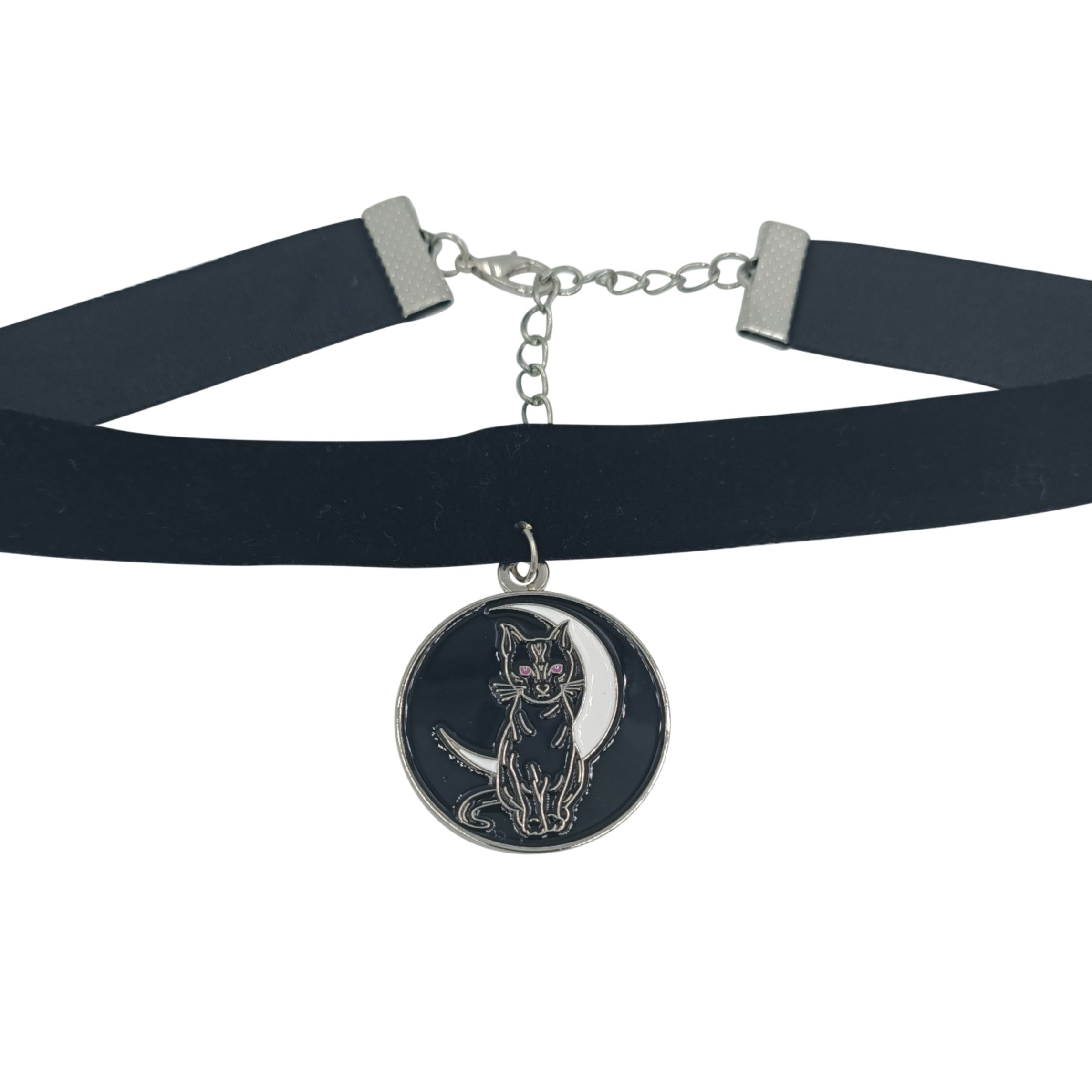 Cat and moon choker