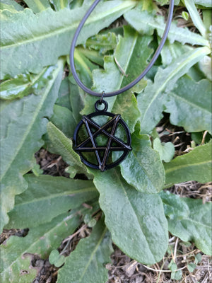 Inverted pentagram necklace